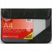 Supreme A4 Portfolio with Extra Capacity Black